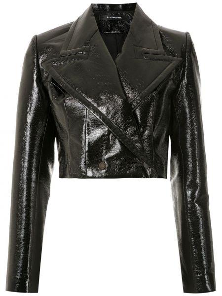 С рукавами черная куртка байкерская À La Garçonne
