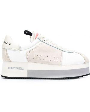 Кроссовки на платформе с логотипом белый Diesel
