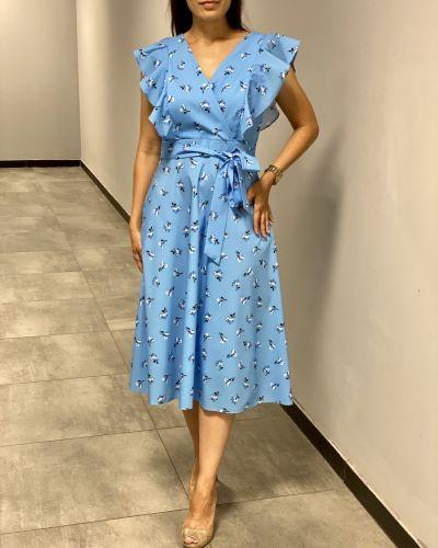 Платье с запахом - голубое Espiga