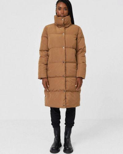 Теплая коричневая утепленная куртка Stradivarius