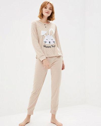 Пижама бежевая пижамный Cootaiya
