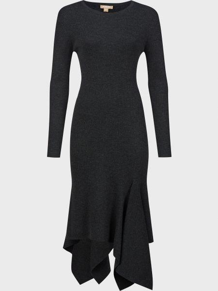 Шерстяное серое платье Michael Kors