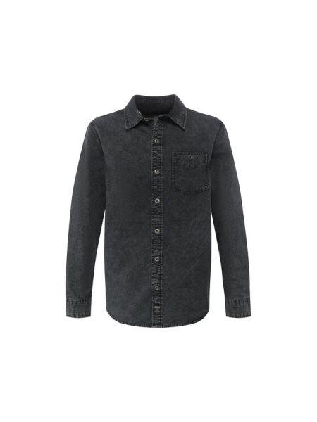 Мягкая хлопковая черная джинсовая рубашка на шнуровке Harley Davidson