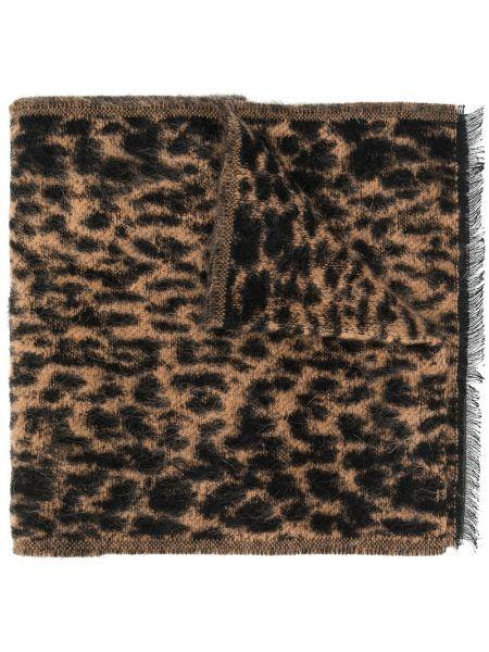 Шарф желтый леопардовый Saint Laurent