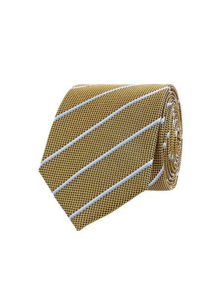 Klasyczny żółty krawat w paski Christian Berg Men