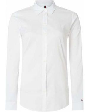 Biała bluzka z haftem bawełniana Tommy Hilfiger