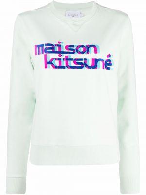 Толстовка длинная - зеленая Maison Kitsuné