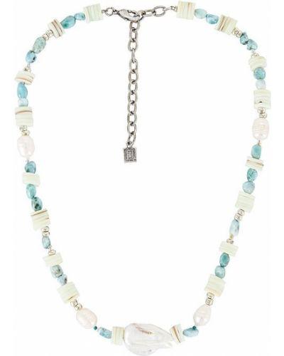 Biały naszyjnik perły srebrny Dannijo
