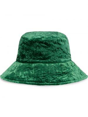 Zielony kapelusz z aksamitu Miu Miu