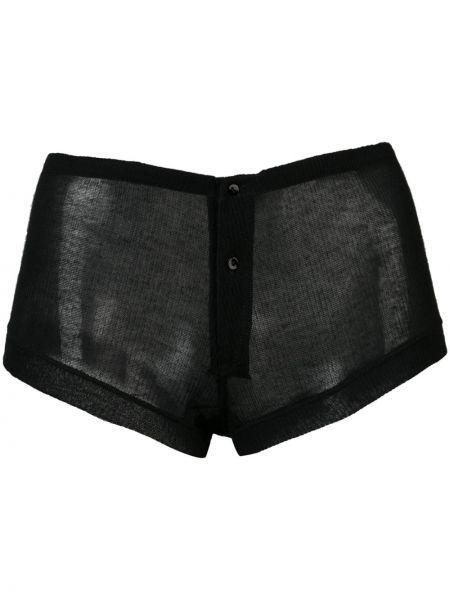 Черные шорты прозрачные на пуговицах Kiki De Montparnasse