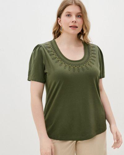 Зеленая футболка с короткими рукавами Persona By Marina Rinaldi