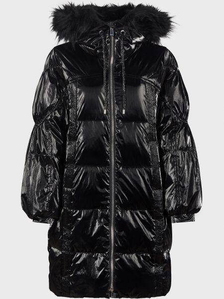 Куртка с мехом - черная Pinko