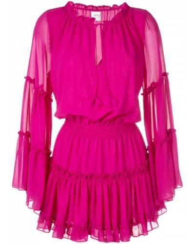 Платье с поясом со вставками платье-рубашка Misa Los Angeles