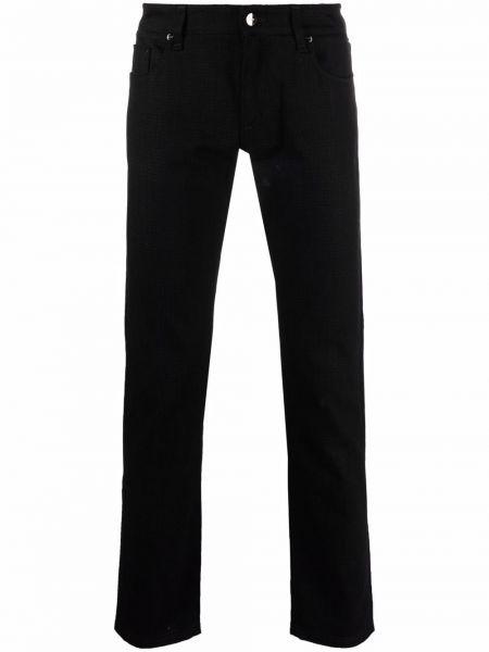 Черные джинсы скинни Fendi