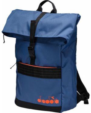 Деловой черный рюкзак для ноутбука с карманами на молнии Diadora