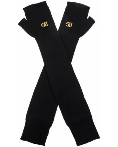 Rękawiczki bez palców wełniane - czarne Dolce And Gabbana