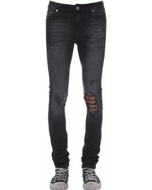Czarne jeansy z paskiem Flaneur Homme