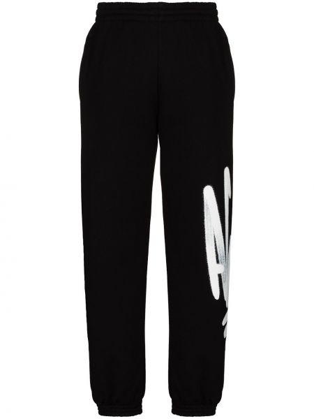 Prosto czarny bawełna sportowe spodnie z kieszeniami Off-white
