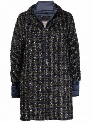 Синее шелковое пальто Cinzia Rocca