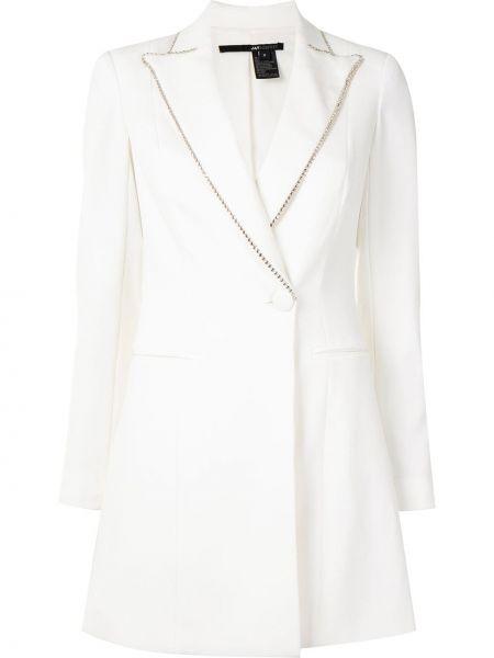 С рукавами белое платье макси с карманами Jay Godfrey