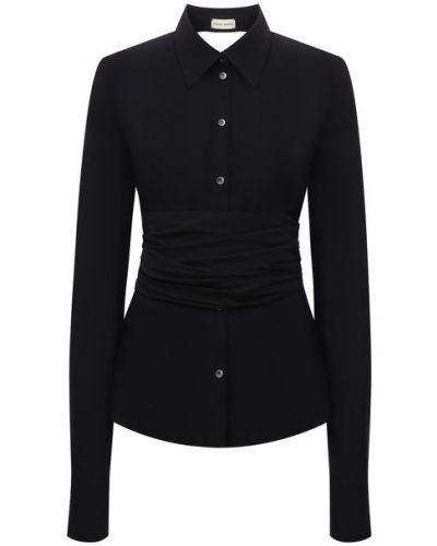 Шелковая рубашка - черная Magda Butrym