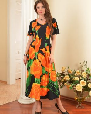Платье с цветочным принтом со складками Salvi-s