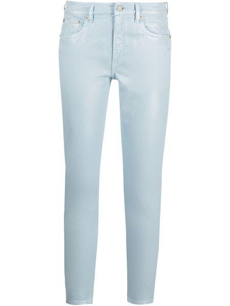 Облегающие синие укороченные джинсы с нашивками Ralph Lauren Collection
