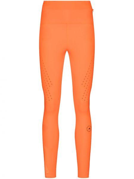 Pomarańczowy legginsy siatkowaty wysoki wzrost z siatką Adidas By Stella Mccartney