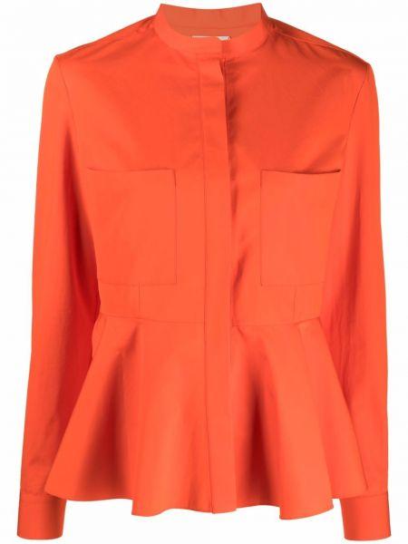 Хлопковая блузка на пуговицах с воротником Maison Rabih Kayrouz