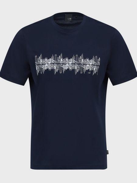 Хлопковая футболка - синяя Lab. Pal Zileri