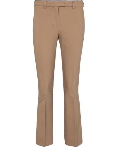 Ватные хлопковые бежевые укороченные брюки 's Max Mara