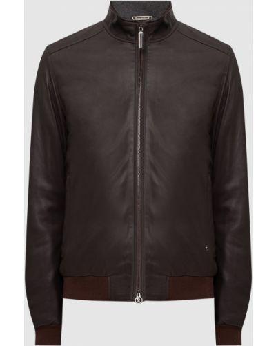 Кожаная куртка - коричневая Stefano Ricci