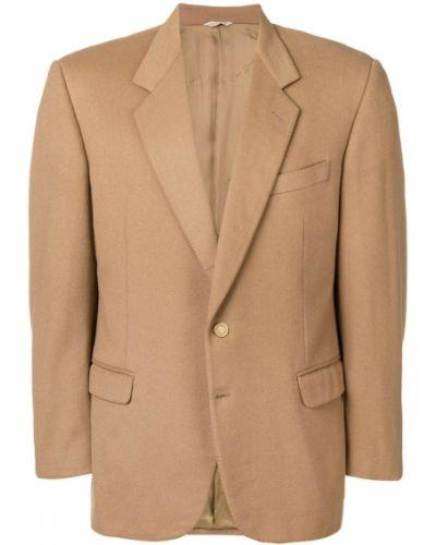 Коричневый пиджак с манжетами Pierre Cardin Pre-owned