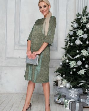 Платье мини с V-образным вырезом платье-сарафан Leleya