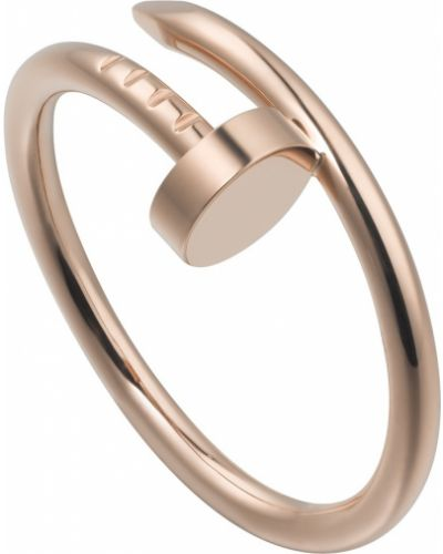 Розовое кольцо Cartier