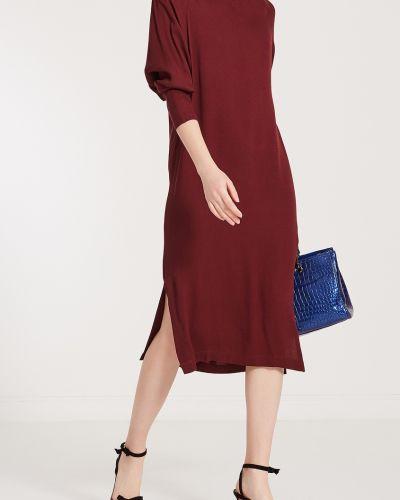 С рукавами красное платье миди с поясом Cyrille Gassiline