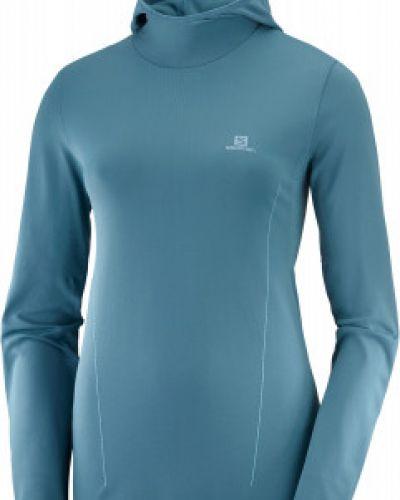 Синяя приталенная футболка Salomon