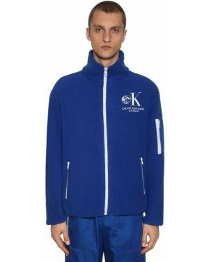 Niebieska kurtka z printem Calvin Klein Established 1978