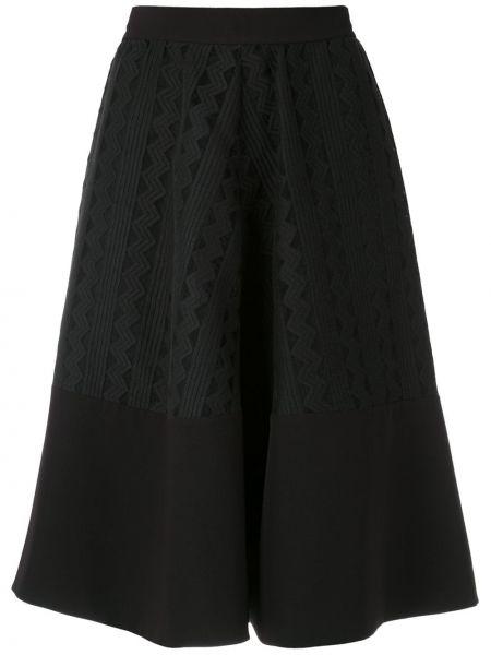 Черная с завышенной талией юбка на молнии свободного кроя Gloria Coelho