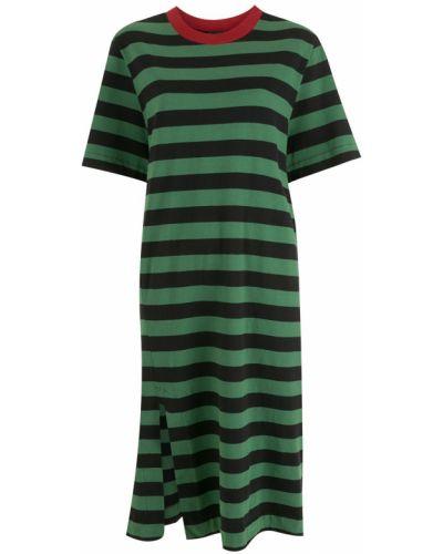 Хлопковое платье миди - зеленое Osklen