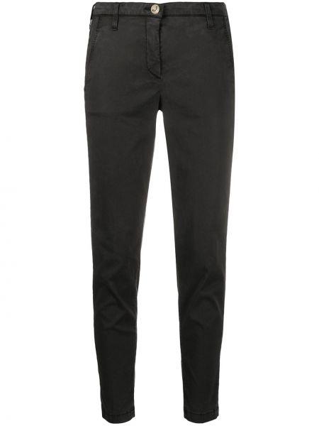 Хлопковые черные брюки с карманами Jacob Cohen