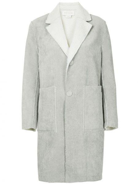 Серое пальто классическое с капюшоном Karen Walker