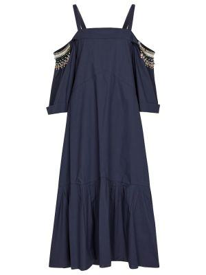 Niebieska ażurowa sukienka bawełniana Dorothee Schumacher