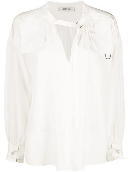 Шелковая белая блузка с длинными рукавами Dorothee Schumacher