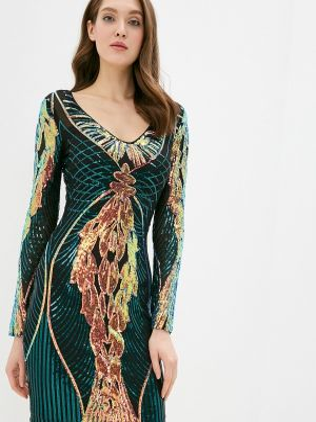 Платье футляр зеленый Soky & Soka