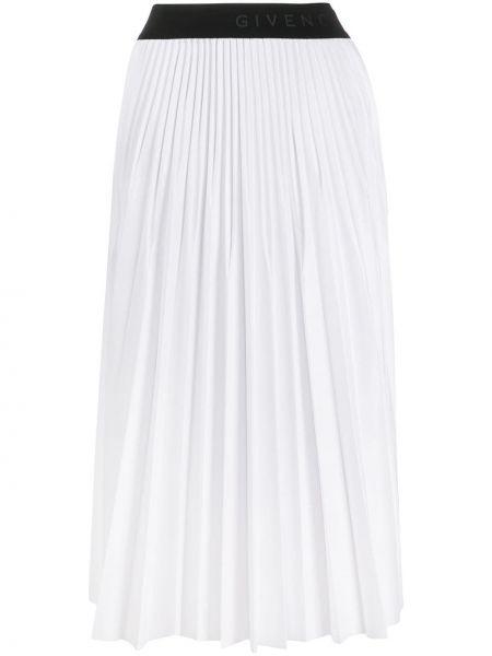 Плиссированная юбка миди с поясом Givenchy
