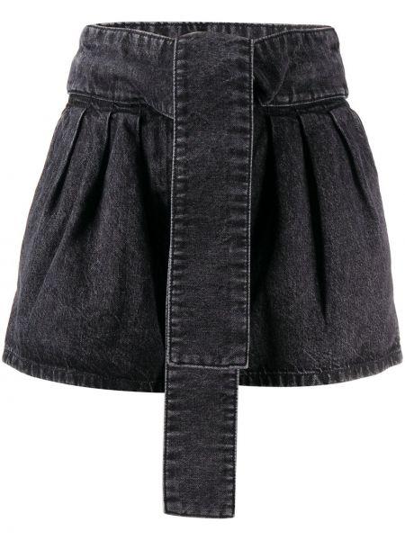 Джинсовые шорты черные с завышенной талией Iro