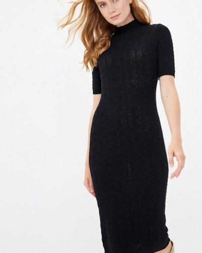 Черное вязаное платье Rinascimento