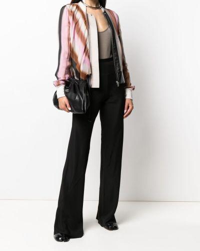Różowa długa kurtka wełniana z długimi rękawami Rick Owens