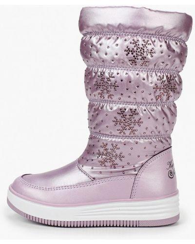 Розовые текстильные дутики Kapika